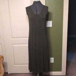 Green Midi Dress with Back Opening